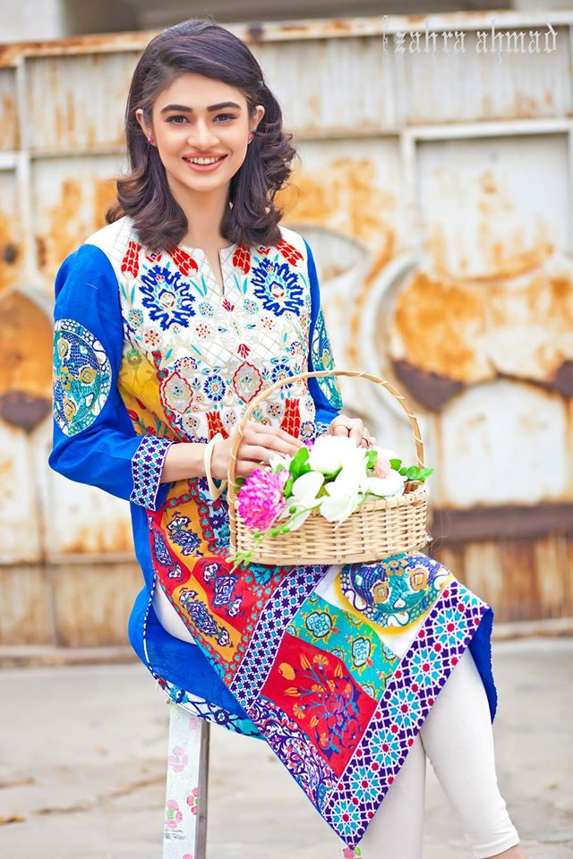 Zahra Ahmed Mystical Printed Shirts Tunics Collection 2015-16 (26)