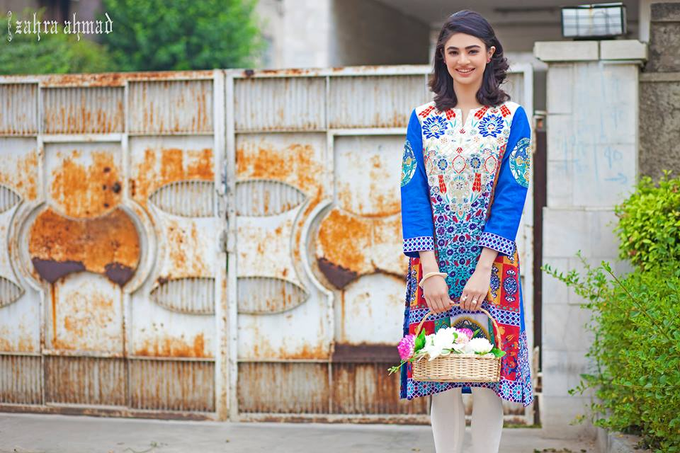 Zahra Ahmed Mystical Printed Shirts Tunics Collection 2015-16 (28)