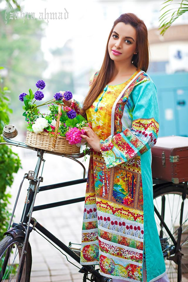 Zahra Ahmed Mystical Printed Shirts Tunics Collection 2015-16 (33)