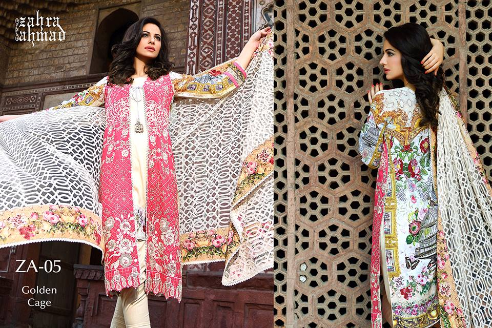 Zahra Ahmed Mystical Printed Shirts Tunics Collection 2015-16 (41)