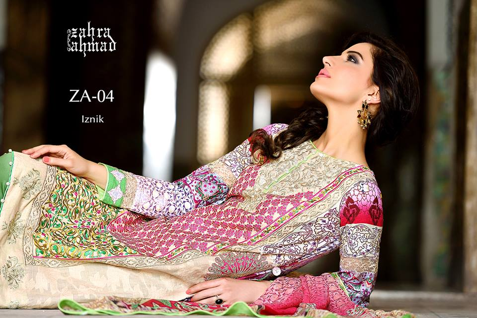 Zahra Ahmed Mystical Printed Shirts Tunics Collection 2015-16 (42)