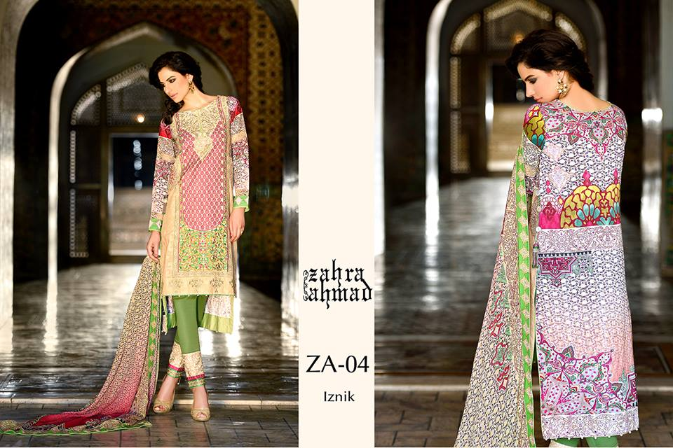 Zahra Ahmed Mystical Printed Shirts Tunics Collection 2015-16 (9)