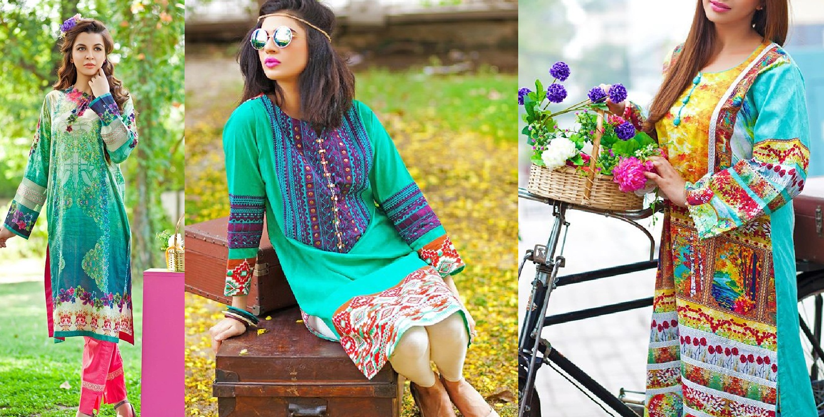 Zahra Ahmed Mystical Printed Shirts Tunics Collection 2015-16