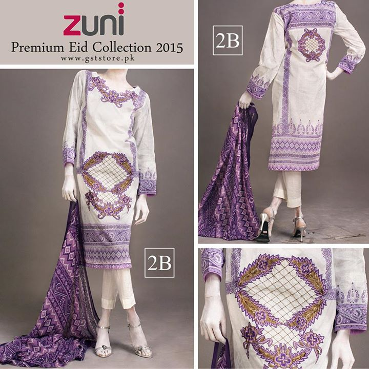 Zuni Printed Premium Lawn Suits Eid Collection 2015 by Amna Ismail (1)
