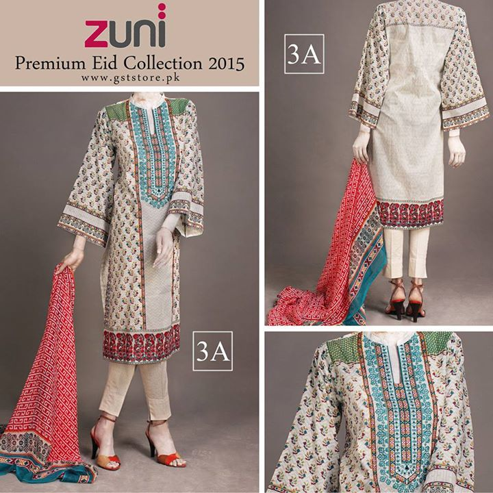 Zuni Printed Premium Lawn Suits Eid Collection 2015 by Amna Ismail (10)