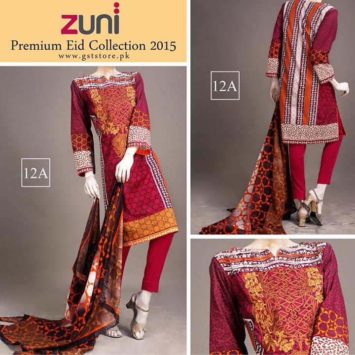 Zuni Printed Premium Lawn Suits Eid Collection 2015 by Amna Ismail (11)