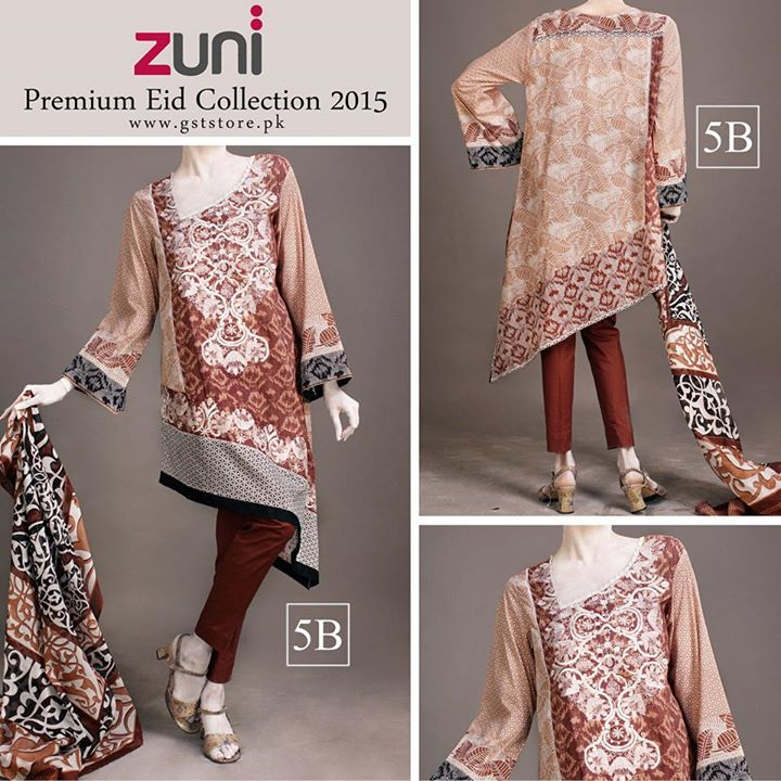 Zuni Printed Premium Lawn Suits Eid Collection 2015 by Amna Ismail (13)