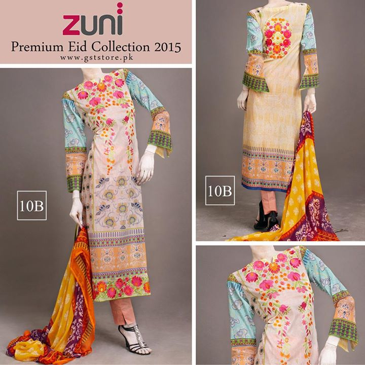 Zuni Printed Premium Lawn Suits Eid Collection 2015 by Amna Ismail (14)