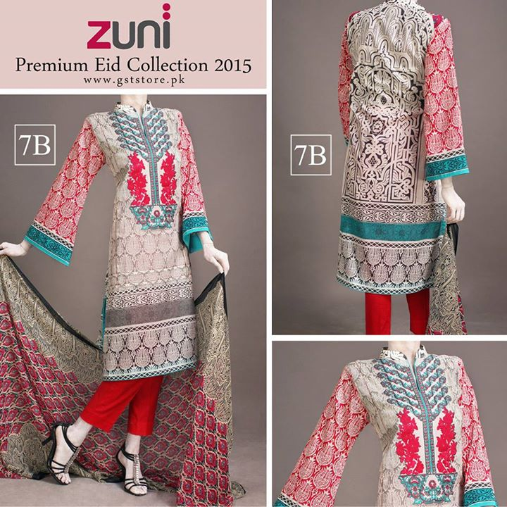Zuni Printed Premium Lawn Suits Eid Collection 2015 by Amna Ismail (15)