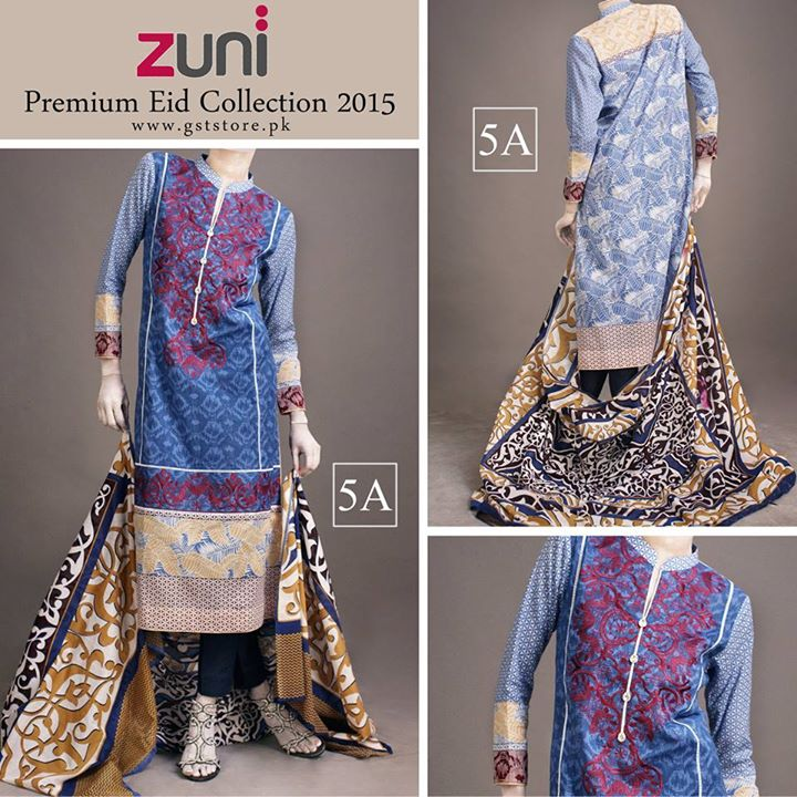 Zuni Printed Premium Lawn Suits Eid Collection 2015 by Amna Ismail (17)