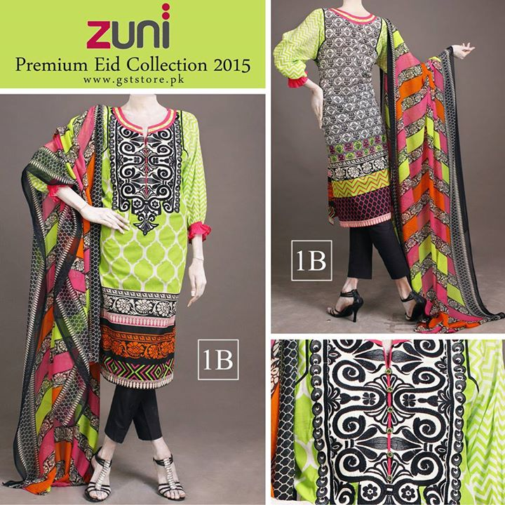 Zuni Printed Premium Lawn Suits Eid Collection 2015 by Amna Ismail (2)
