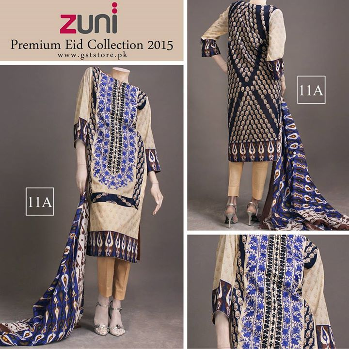 Zuni Printed Premium Lawn Suits Eid Collection 2015 by Amna Ismail (3)
