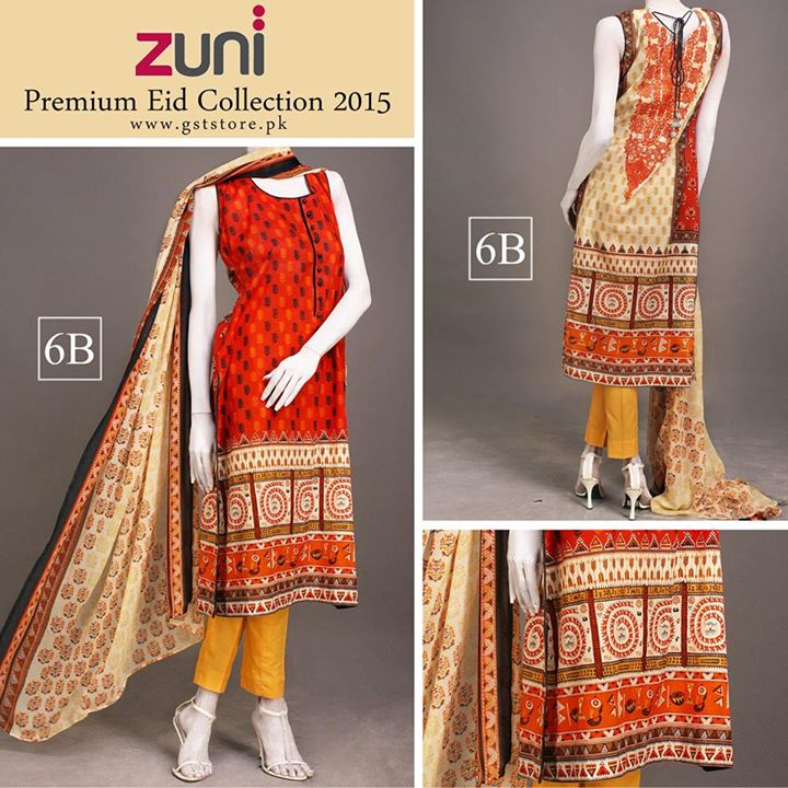 Zuni Printed Premium Lawn Suits Eid Collection 2015 by Amna Ismail (4)