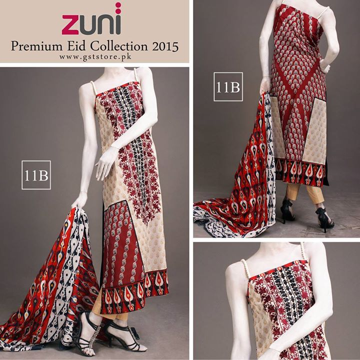 Zuni Printed Premium Lawn Suits Eid Collection 2015 by Amna Ismail (5)
