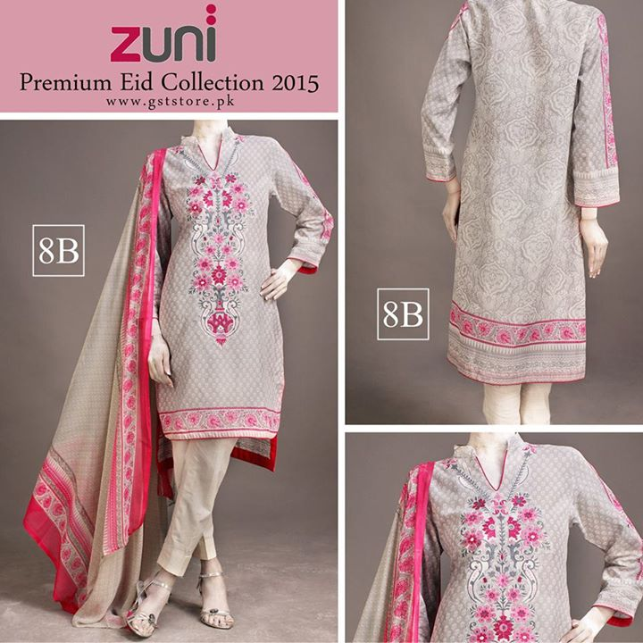 Zuni Printed Premium Lawn Suits Eid Collection 2015 by Amna Ismail (7)