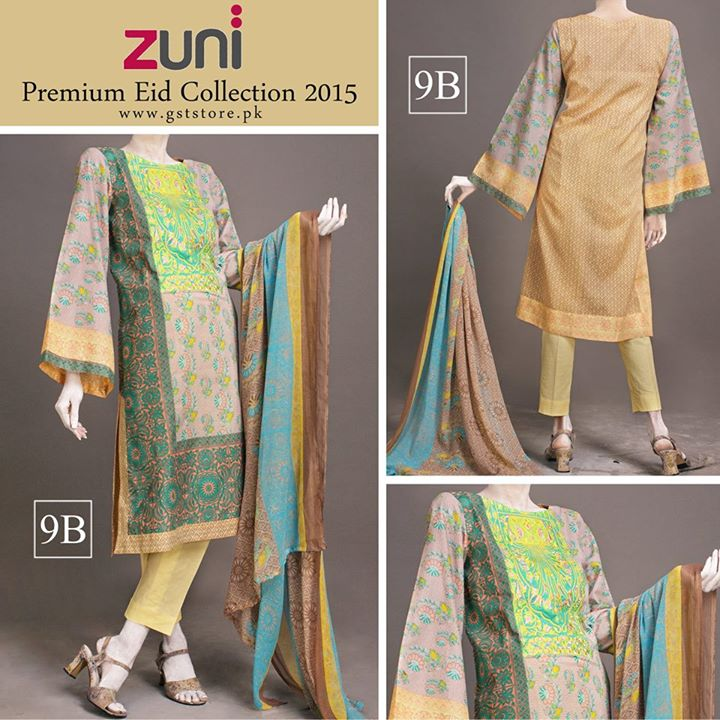 Zuni Printed Premium Lawn Suits Eid Collection 2015 by Amna Ismail (8)