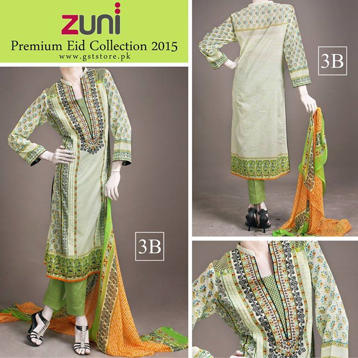 Zuni Printed Premium Lawn Suits Eid Collection 2015 by Amna Ismail (9)