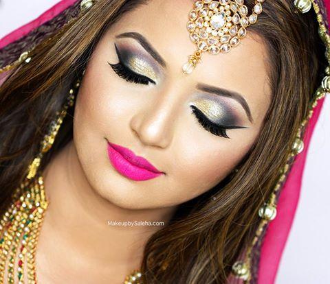 Pakistani bridal eye makeup tutorial