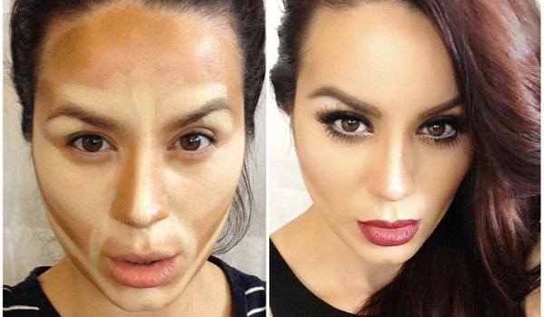 applying contouring makeup - Copy