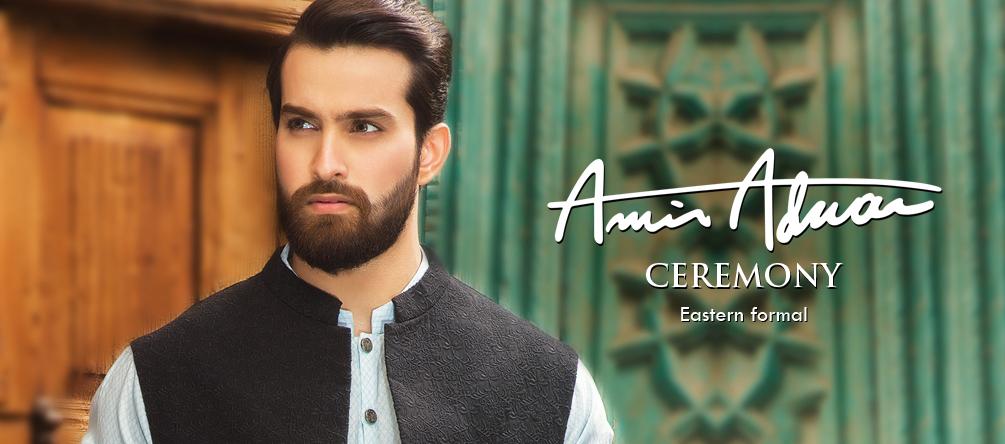 Amir Adnan Men Ceremony Kurtas & Waist Coat Collection
