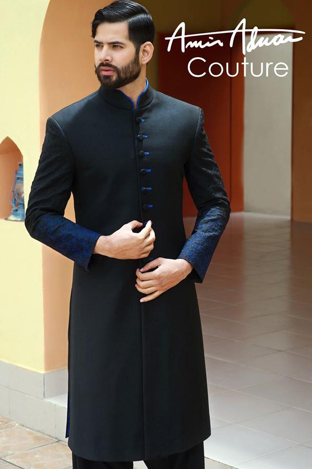Amir Adnan Men Ceremony Kurtas Waist Coat Collection 2018-2019