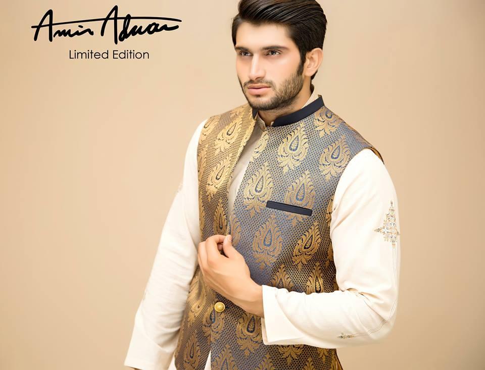 Amir Adnan Men Wedding Stylish Kurtas Collection 2015-2016 (18)