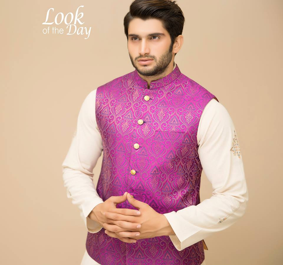 Amir Adnan Men Ceremony Kurtas Waist Coat Collection 2018-2019