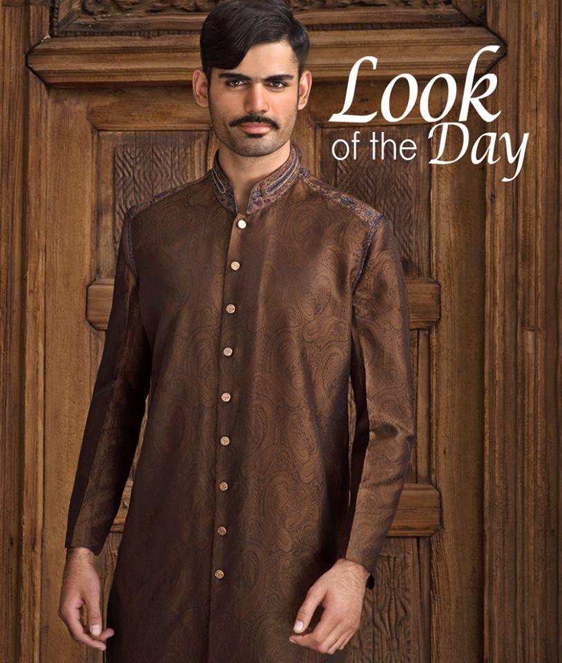 Amir Adnan Men Wedding Stylish Kurtas Collection 2015-2016 (5)