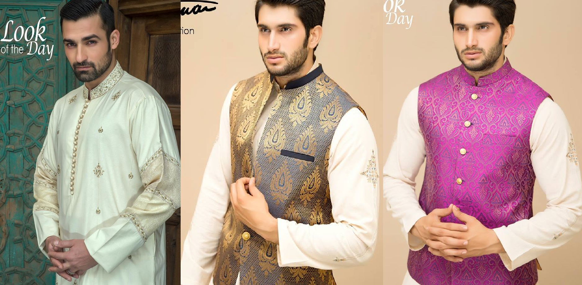 b57e50bae37 Amir Adnan Men Ceremony Kurtas Waist Coat Collection 2018-19