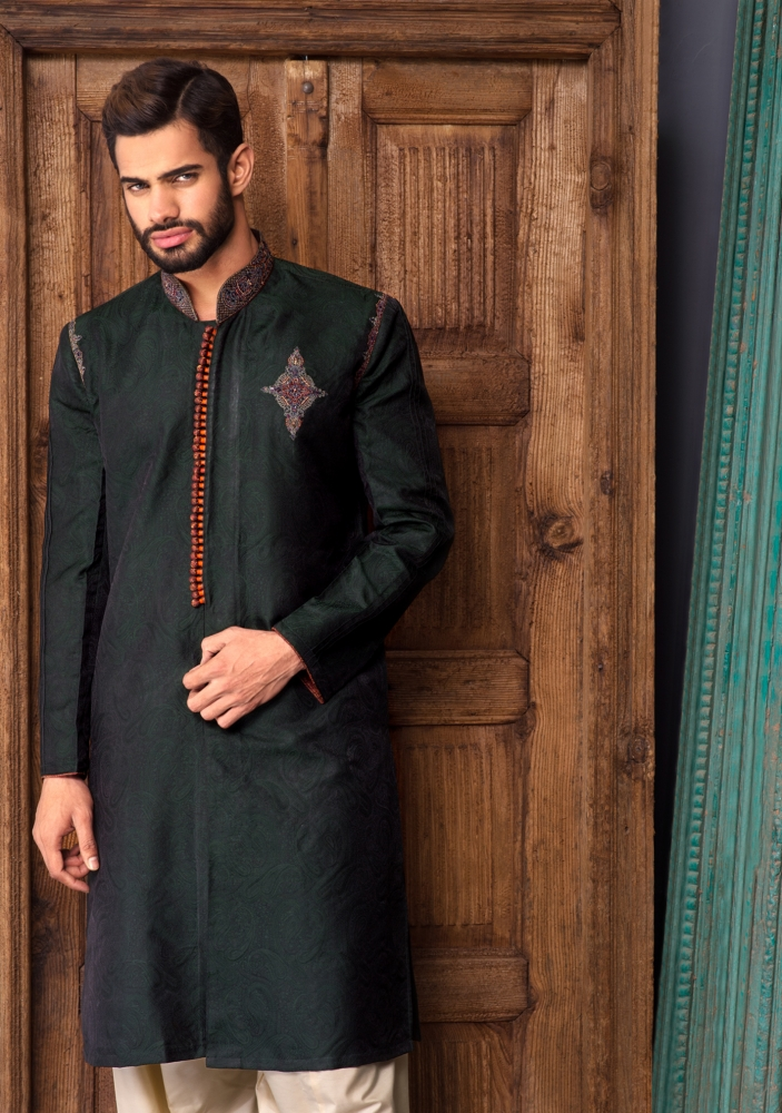 Amir Adnan Men Wedding Stylish Kurtas Collection 2015 (4)
