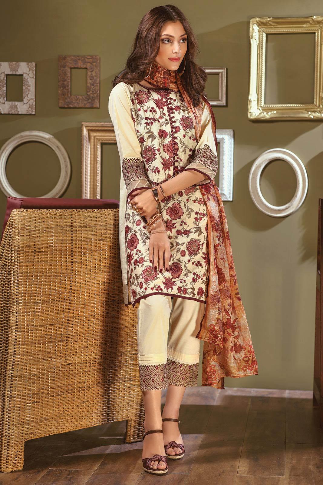 Bonanza Satrangi Summer Lawn Designer Dresses 2018 2019