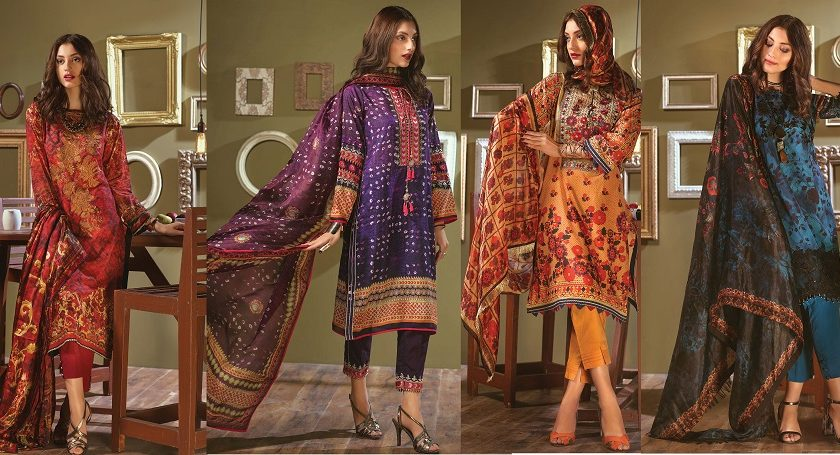 Bonanza Satrangi Summer Lawn Designer Dresses 2018 Collection