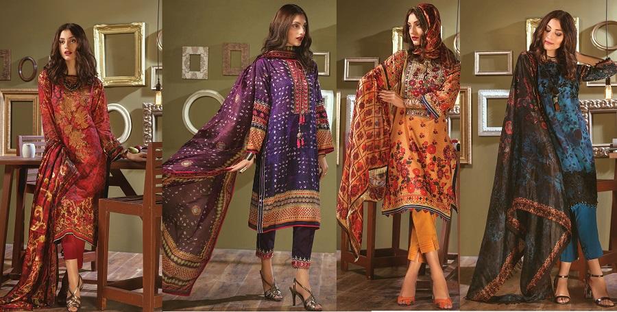 Bonanza Satrangi Summer Lawn Designer Dresses 2018 Collection
