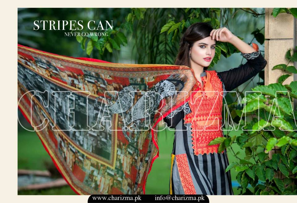 Charizma Luxury Embroidered Lawn Dresses Collection 2015 (1)