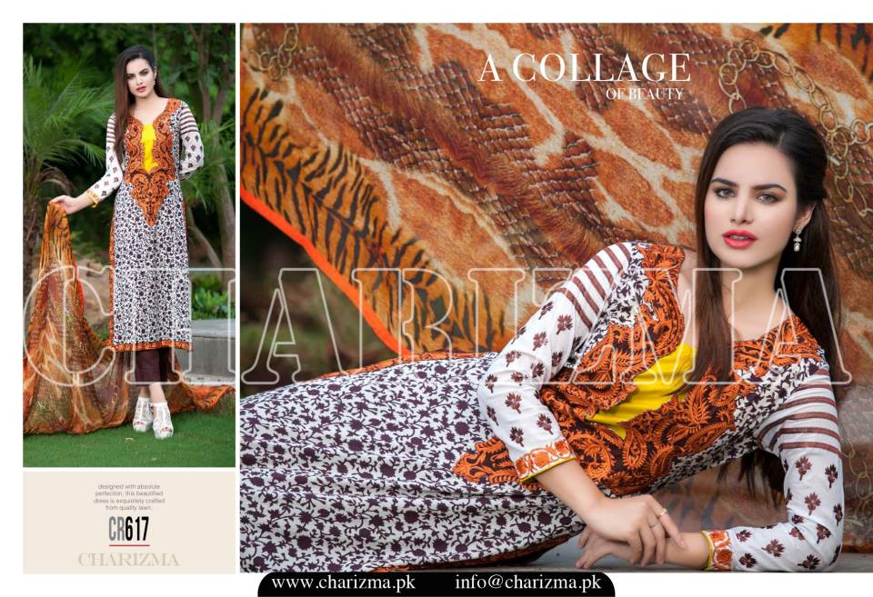 Charizma Luxury Embroidered Lawn Dresses Collection 2015 (10)
