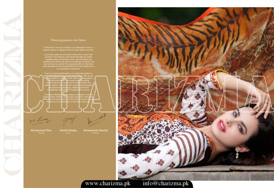 Charizma Luxury Embroidered Lawn Dresses Collection 2015 (11)