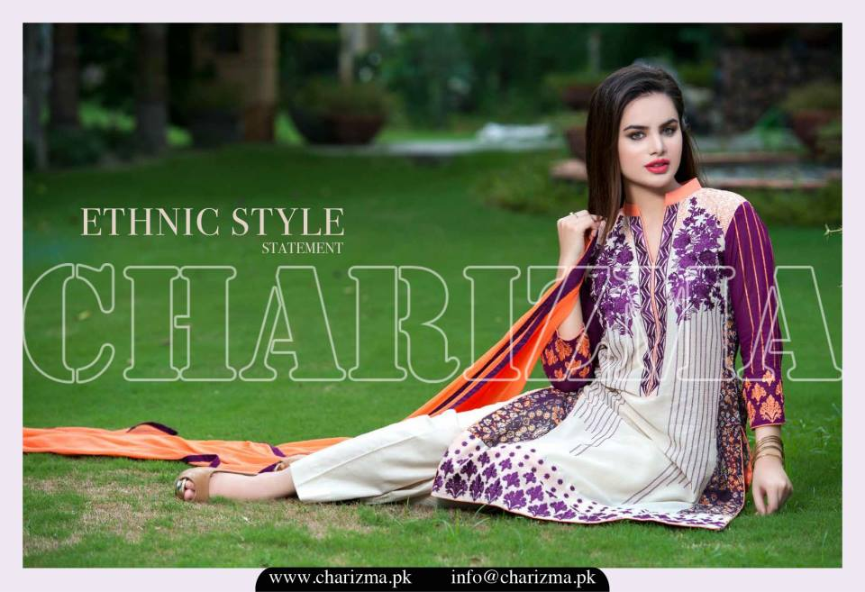 Charizma Luxury Embroidered Lawn Dresses Collection 2015 (14)