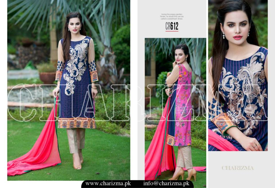 Charizma Luxury Embroidered Lawn Dresses Collection 2015 (15)