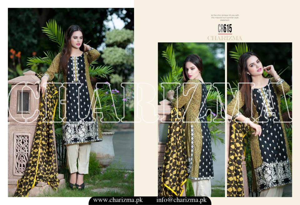 Charizma Luxury Embroidered Lawn Dresses Collection 2015 (16)