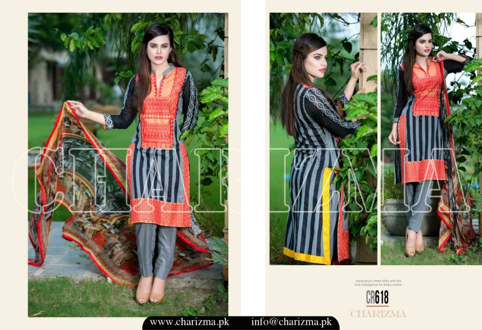 Charizma Luxury Embroidered Lawn Dresses Collection 2015 (18)