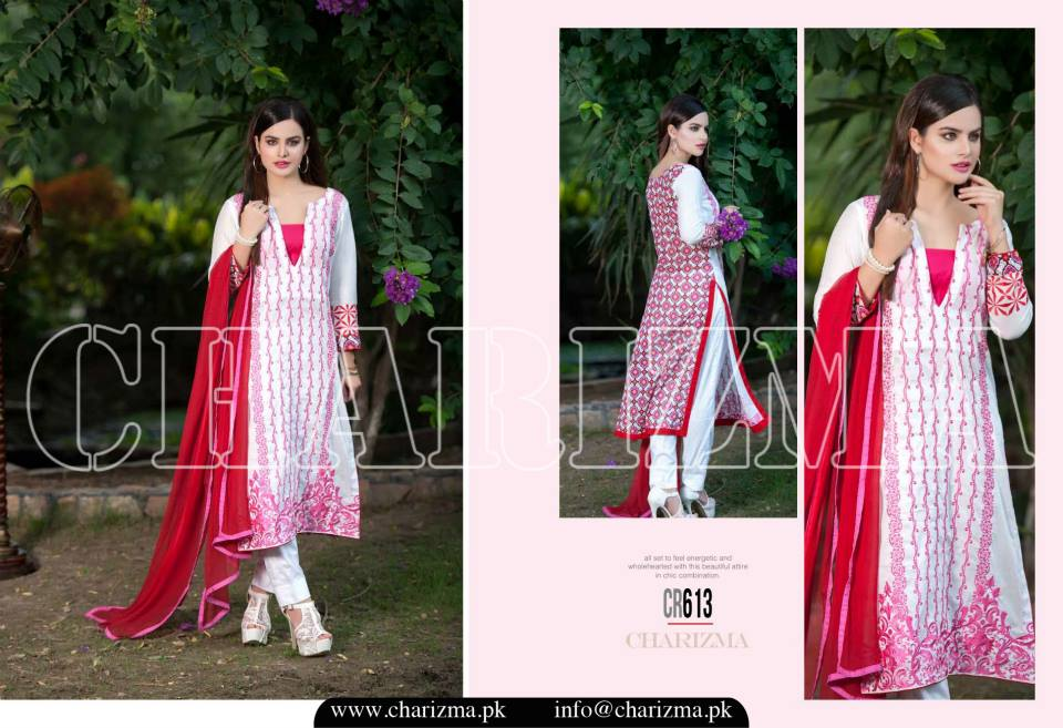 Charizma Luxury Embroidered Lawn Dresses Collection 2015 (19)