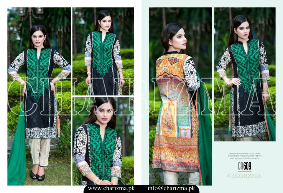Charizma Luxury Embroidered Lawn Dresses Collection 2015 (2)