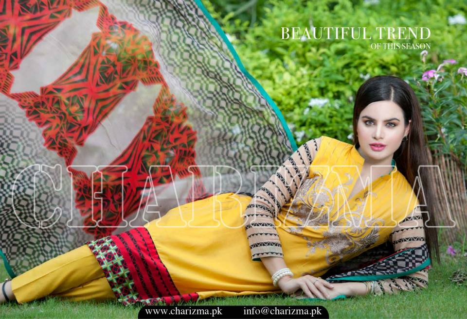 Charizma Luxury Embroidered Lawn Dresses Collection 2015 (20)