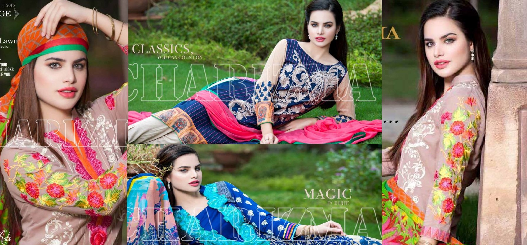 Charizma Luxury Embroidered Lawn Dresses Collection 2015-2016