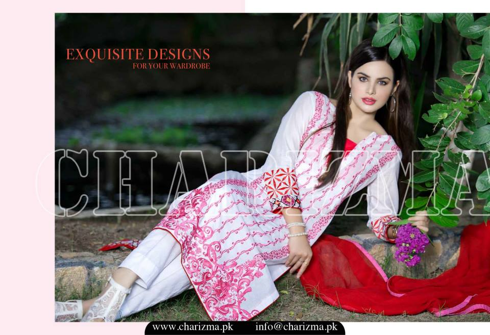 Charizma Luxury Embroidered Lawn Dresses Collection 2015 (22)