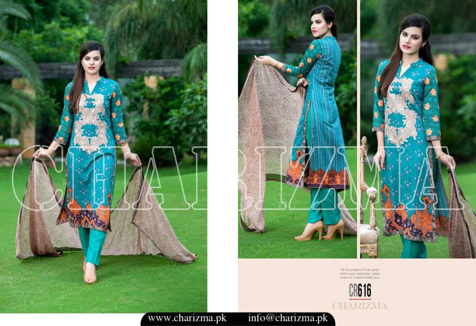 Charizma Luxury Embroidered Lawn Dresses Collection 2015 (23)