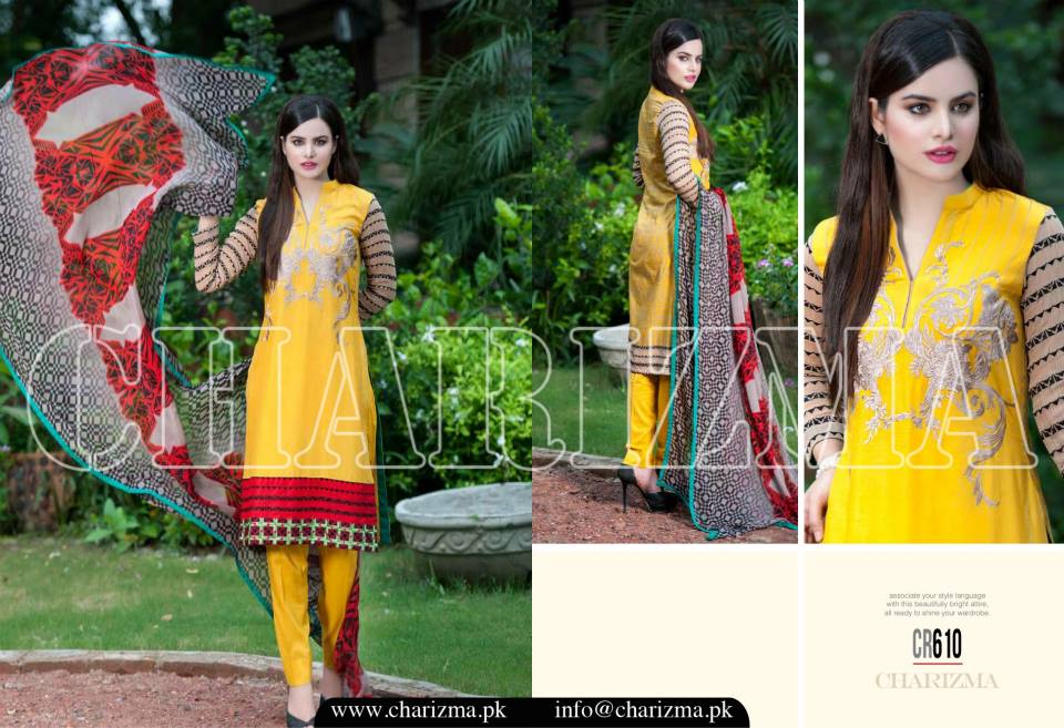 Charizma Luxury Embroidered Lawn Dresses Collection 2015 (24)