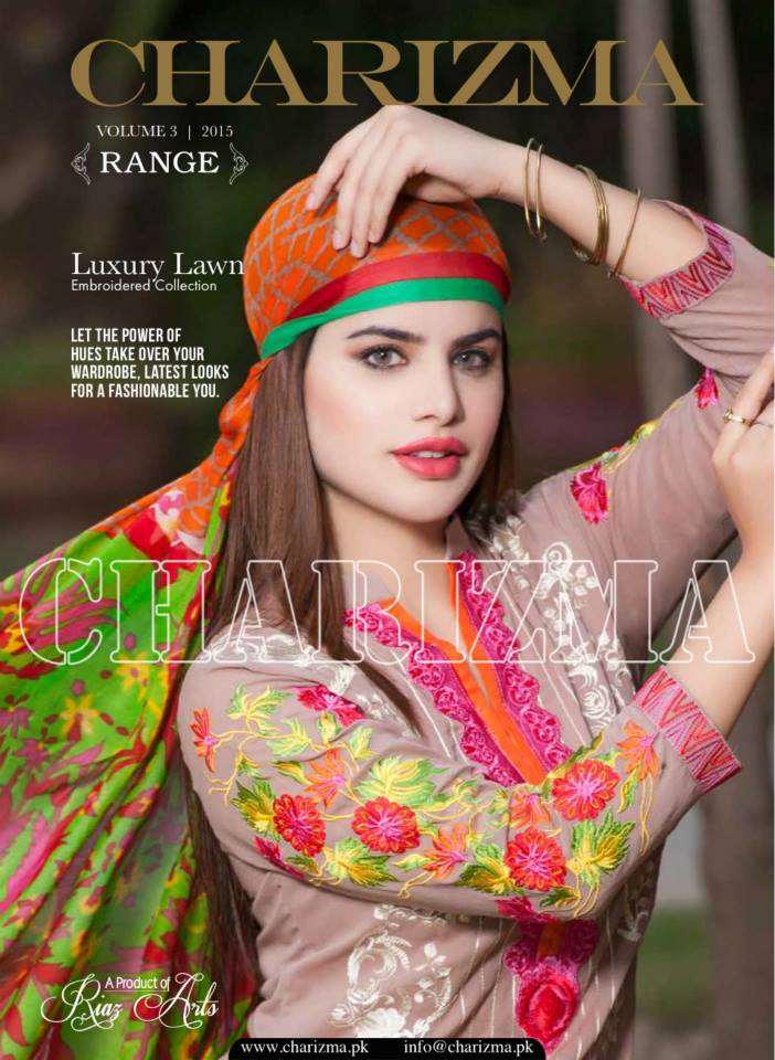 Charizma Luxury Embroidered Lawn Dresses Collection 2015 (3)