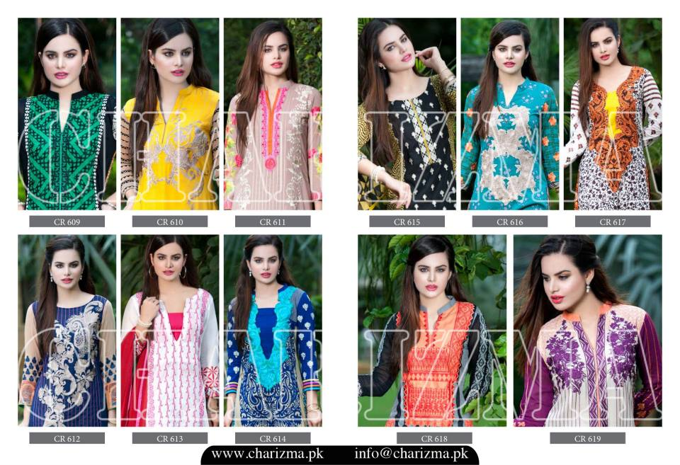 Charizma Luxury Embroidered Lawn Dresses Collection 2015 (4)