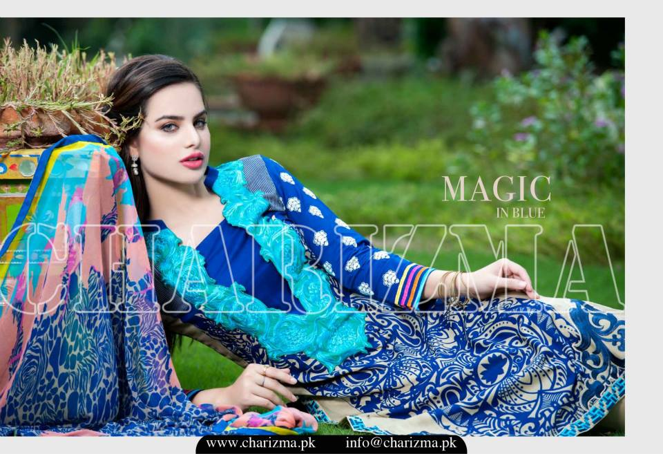 Charizma Luxury Embroidered Lawn Dresses Collection 2015 (5)